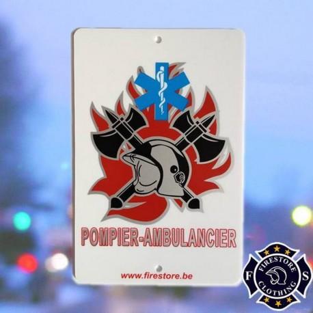 Plaque Pare-brise Pompier Ambulancier