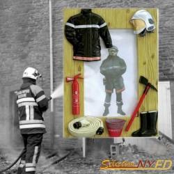 cadre photos pompier décoration sapeurs-pompiers
