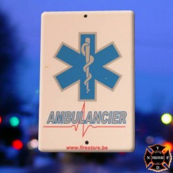 Plaque Pare-brise Ambulancier