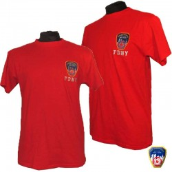 T-shirt brodé FDNY Rouge