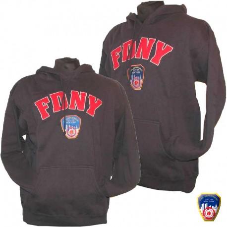 Sweat brodé FDNY Bleu Navy