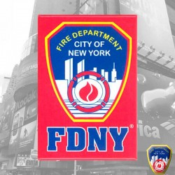 Magnet FDNY Rouge