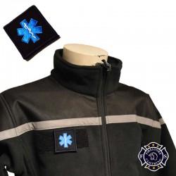 Ecusson Ambulancier Fond noir