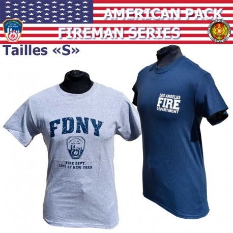 US New York FDNY FIRE DEPARTMENT Officially Licensed Pompiers T Shirt XXL