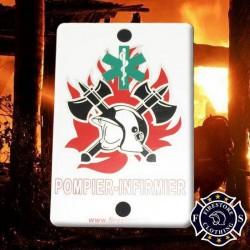 Plaque Pare-brise Pompier Infirmier