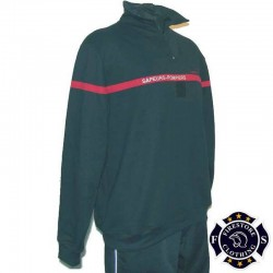 Sweat Col Zip Sapeurs-Pompiers