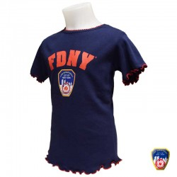 T-shirt Fille FDNY Blanc