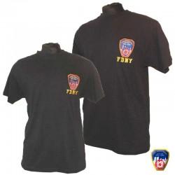 T-shirt brodé FDNY Bleu Navy