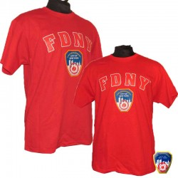 T-shirt FDNY Rouge/Rouge