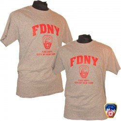 T-shirt FDNY Gris/Rouge