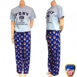 Pyjama FDNY Bleu ciel et Bleu