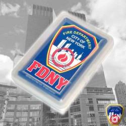 Jeu de cartes FDNY Bleu