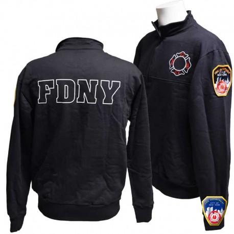 Sweat JOB Full zip FDNY Navy
