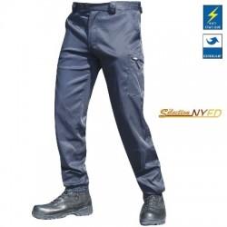 Pantalon Polymole Bleu