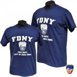 T-shirt FDNY Gris/Bleu 2