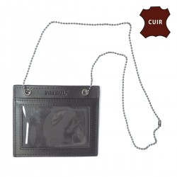 Porte Carte en cuir avec chaine