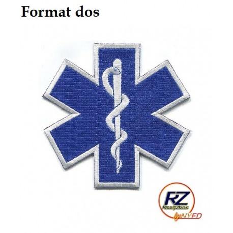 """Ecusson Ambulancier à coudre """"format 15cm"""""""